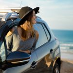 Car Rental Costa Rica Beach pretty woman enjoying vacation